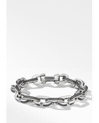 David Yurman - Streamline Chain Link Bracelet With Black Diamonds - Lyst