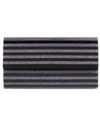 Nordstrom - Glitter Stripe Lucite Clutch - Lyst