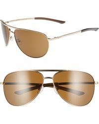 572aa22a6a Smith - Serpico 2 65mm Mirrored Chromapop(tm) Polarized Aviator Sunglasses  - Lyst