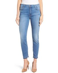 Jen7 - Release Hem Stretch Ankle Skinny Jeans - Lyst