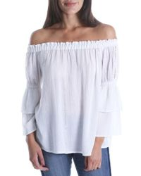 Kut From The Kloth - Kaylan Off The Shoulder Ruffle Sleeve Top - Lyst