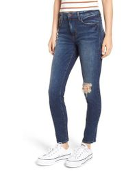 BP. - Ripped High Waist Skinny Jeans - Lyst