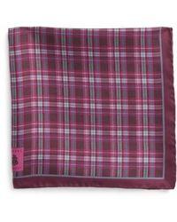 Robert Talbott - Plaid Silk Pocket Square - Lyst