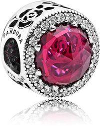 PANDORA - Disney Belle's Radiant Rose Charm - Lyst