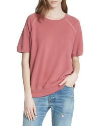 The Great - Short Sleeve Sweatshirt - Lyst