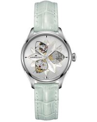 Hamilton - Jazzmaster Open Heart Automatic Leather Strap Watch - Lyst