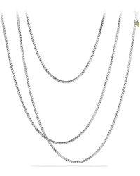 David Yurman - 'chain' Medium Box Chain With Gold - Lyst
