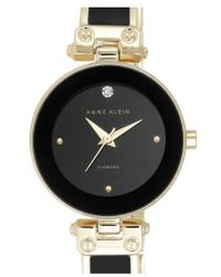Anne Klein - Diamond Marker Bangle Watch - Lyst