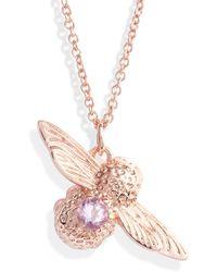 Olivia Burton - Bejeweled Bee Pendant Necklace - Lyst