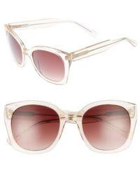 Derek Lam - Sadie 54mm Sunglasses - Nude Crystal - Lyst