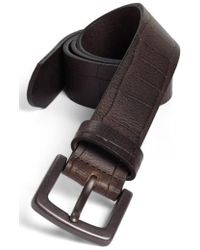 Bosca | Gator Embossed Belt | Lyst