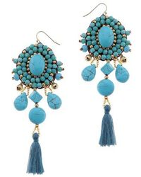 Nakamol - Howlite Tassel Earrings - Lyst