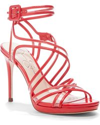 ad2955022a Jessica Simpson Dorrin Platform Strappy Sandals in Blue - Lyst
