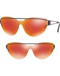 Versace - Rock Icons Medusa 138mm Rimless Shield Sunglasses - Violet Mirror - Lyst