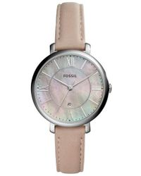 Fossil - Jacqueline Leather Strap Watch - Lyst