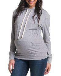 0cb88b0bbdef1 Bun Maternity - 'cozy' Maternity/nursing Hoodie - Lyst