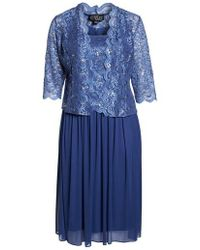 Alex Evenings - Lace Bodice Dress With Jacket - Lyst