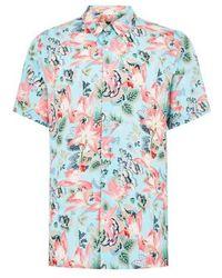 TOPMAN - Floral Print Shirt - Lyst