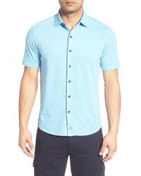 Thaddeus - Mcadams Slub Jersey Sport Shirt - Lyst