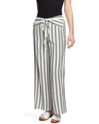 1.STATE - Regancy Striped Wide-leg Pants - Lyst