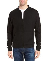Nordstrom | Wool Blend Fleece Bomber Jacket | Lyst