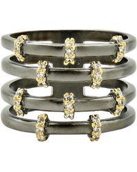 Freida Rothman - Imperial Pave Cage Ring - Lyst