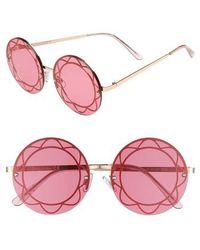 Circus by Sam Edelman | 55mm Round Sunglasses | Lyst