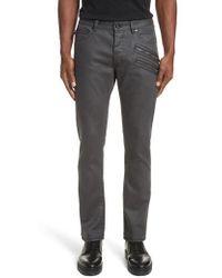 John Varvatos | John Varvatos Chelsea Fit Zipper Jeans | Lyst