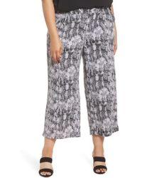 Sejour - Crop Wide Leg Pants - Lyst
