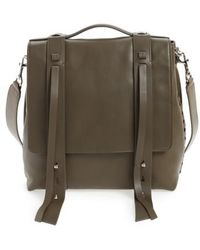 AllSaints - Fin Leather Backpack - Lyst