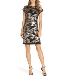Eliza J - Sequin Sheath Dress - Lyst