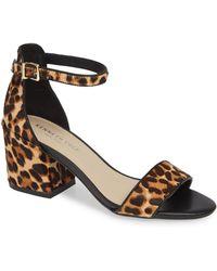 Kenneth Cole - Hannon Genuine Calf Hair Block Heel Sandal - Lyst