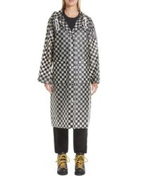 Proenza Schouler - Pswl Checkerboard Hooded Raincoat - Lyst