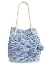 Tommy Bahama - Mama Straw Bucket Bag - Lyst