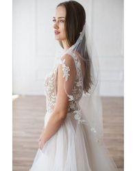 Brides & Hairpins - Mikaela Embellished Veil - Lyst