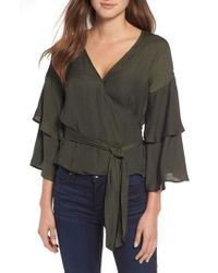 Cupcakes And Cashmere - Yetta Wrap Top - Lyst
