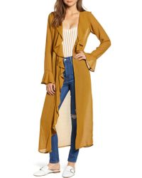 Love, Fire - Ruffle Front Wrap Jacket - Lyst