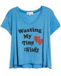 Wildfox - Wasting Time Tee - Lyst