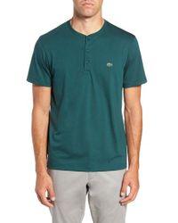 Lacoste - Henley T-shirt - Lyst