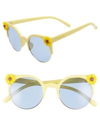 Circus by Sam Edelman - 50mm Daisy Accent Round Sunglasses - Lyst
