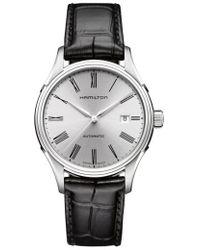 Hamilton - Valiant Automatic Leather Strap Watch - Lyst