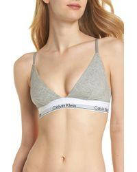 Calvin Klein - Modern Triangle Bralette - Lyst