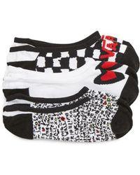 Vans - 3-pack Canoodle Rose Motif Socks - Lyst