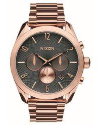 Nixon | 'bullet' Guilloche Chronograph Bracelet Watch | Lyst