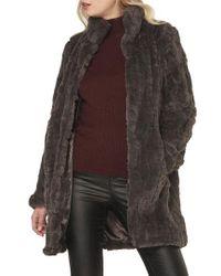 Dorothy Perkins - Faux Fur Coat - Lyst