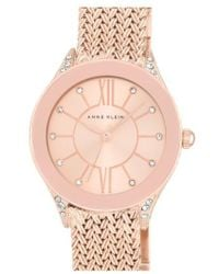 Anne Klein - Mesh Strap Watch - Lyst