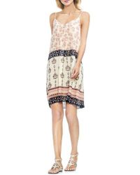 Vince Camuto - Tile Wildflower Inverted Pleat Slipdress - Lyst