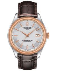 Tissot - Ballade Powermatic 80 Chronometer Leather Strap Watch - Lyst
