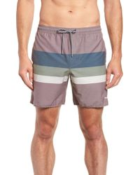 Rhythm - Retro Stripe Beach Swim Trunks - Lyst
