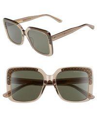 Bottega Veneta - 54mm Square Lens Sunglasses - Lyst